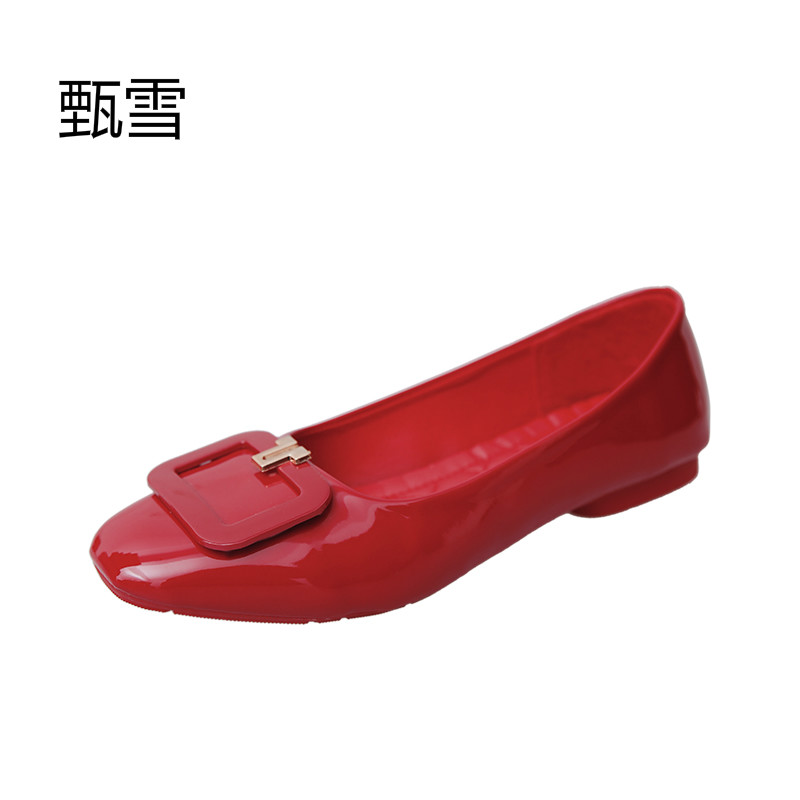 The New Spring And Summer 2017 Fashion Classic Red All-match Flat Shoes 2017 new fashion spring