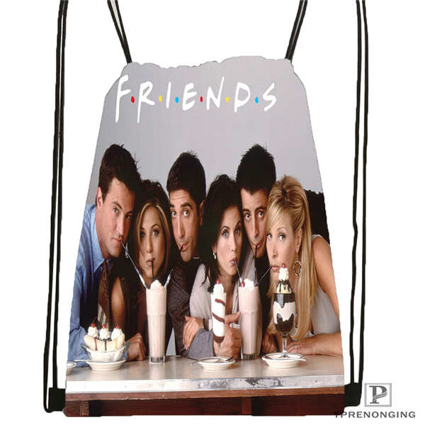 Custom friends cast Drawstring Backpack Bag Cute Daypack Kids Satchel Black Back 31x40cm 2018611 29