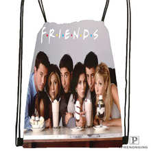 Custom friends-cast Drawstring Backpack Bag Cute Daypack Kids Satchel (Black Back) 31x40cm#2018611-29