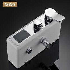 Image 5 - XOXO ducha de lujo con pantalla inteligente digital dinámica de agua, grifo de ducha con led, juego de grifería Mezclador de Baño, 88010