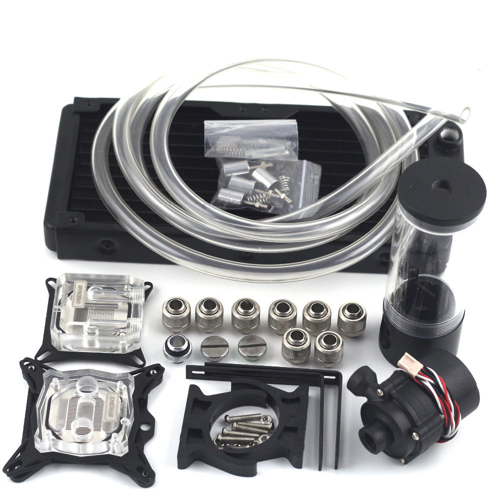 New water cooling head water colling set 240B radiator + SC600 pump + 140mm tank + 2M tube + CPU / GPU Block with total fitting optolong yulong 2 inch 1 25 inch built in l pro almost no color filter light filter deep space photography filter