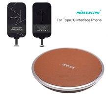 Nillkin qi wireless charger  Type-C ReceiverPortable Wireless Charger Pad For xiaomi mi5 mi5s mi6 for huawei P10 zuk oneplus 3