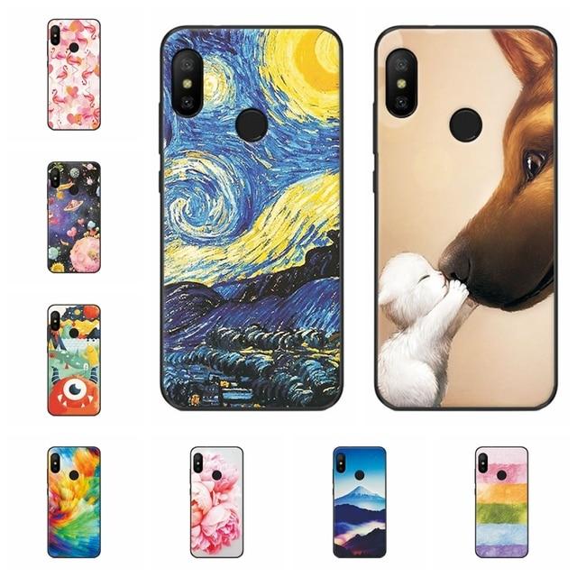 the best attitude c30c0 4fe42 US $0.77 47% OFF|Soft Fundas For Xiaomi Mi A2 Lite Back Cover Scenery Phone  Case For Xiaomi A 2 Lite Capa Soft TPU Silicone Cover Cases 5.8