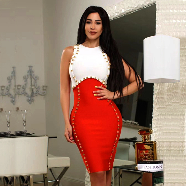 New Arrivals Ladies Sexy Sequined Thick Rayon Bandage Dress Designer  Elegant Mini Party Dress For Women cb46407b7aa5