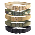 New Designer Outdoor Mens Belts Luxury Army Camo Waistband Tactical Hunting Sport Field Belt 5 Colors High Quality