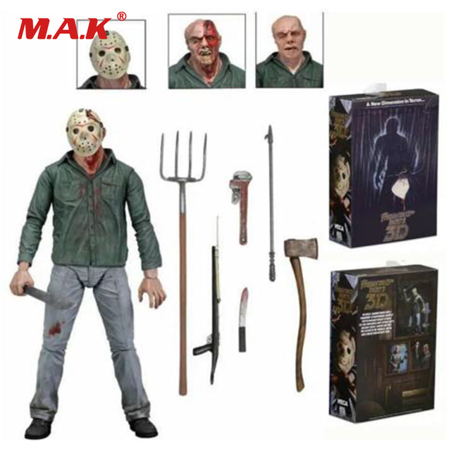 "7"" Anime Figure NECA PVC Jason Voorhees Friday Ultimate Horror Deluxe Edition Action Figure Model Toys for Collection Gift"