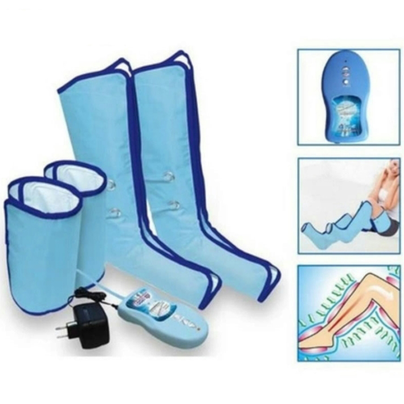 Foot Massager Air Compression Leg Wrap Boot Socks Heating Sauna Belt Relax Vibrator Ankle Therapy Massage Slimming Legs все цены