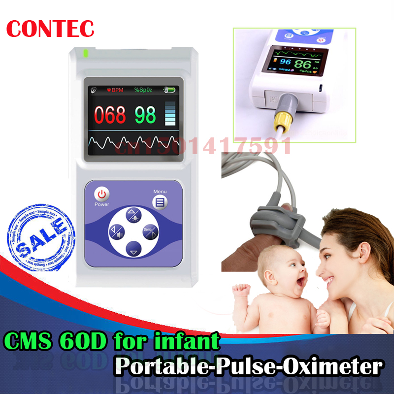 2017new  hot! CMS60D  CMS 60D CMS-60D Pulse Oximeter Spo2 Monitor USB 24 hours Neonatal Infant New Born bundled probe цена 2017