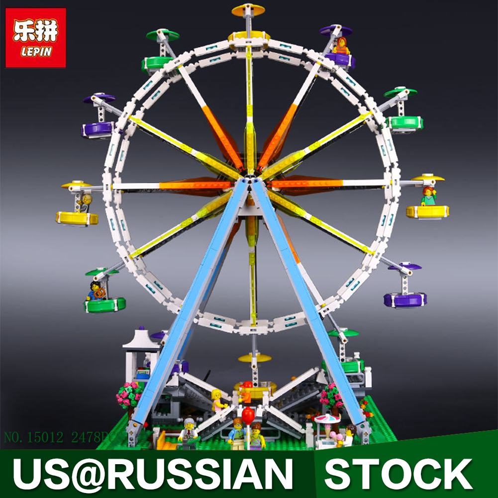 LEPIN 15012 City Creator Expert Ferris Wheel Model Building Kits Blocks 2478Pcs Bricks Toys a toy a dream lepin 15008 2462pcs city street creator green grocer model building kits blocks bricks compatible 10185