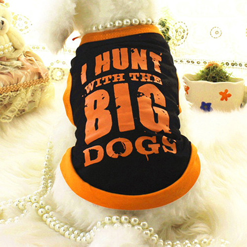 TINGHAO Pet Dog Cosy Summer Vest Clothes Sports Style Big Letters T-shirt Tops Apparel S ...