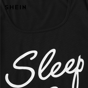 Image 3 - SHEIN Nette Kurzarm Slogan T shirt Und Herz Druck Kordelzug Taille Shorts Pyjamas Set Frauen Sommer Casual Nachtwäsche Pj Set