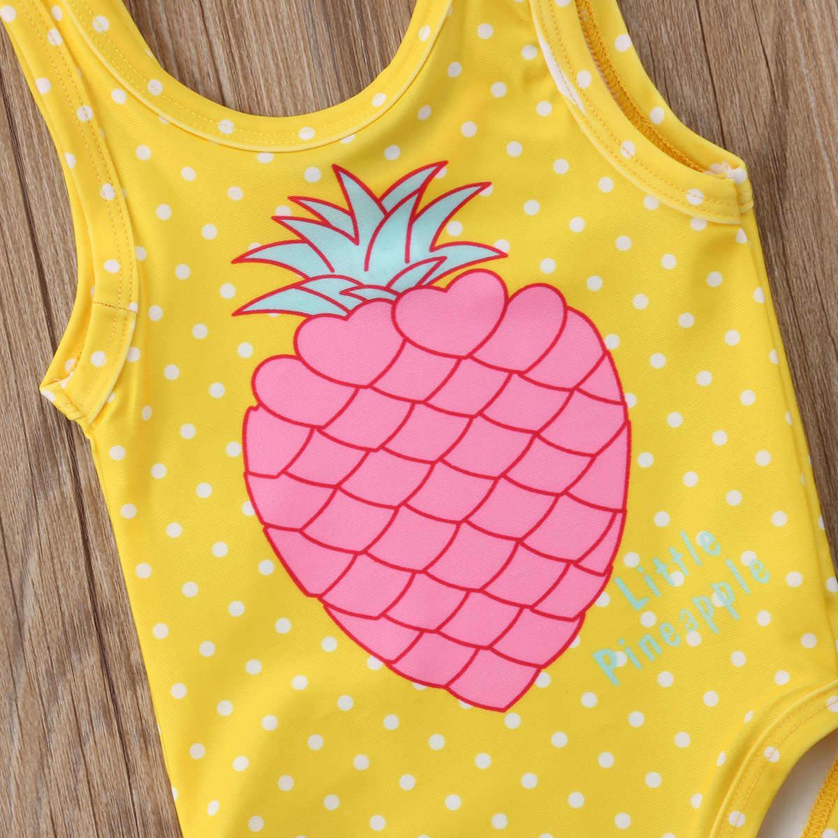 1-7Y Anak Bayi Anak Perempuan Nanas Cetak Baju Renang Anak Baju Renang Pakaian Renang Bayi Gadis Pakaian Anak Pakaian Musim Panas
