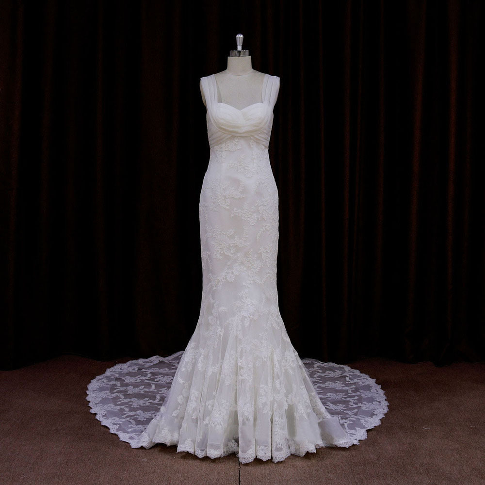 Sweetheart tank Fashion vintage Long Real Photo mermaid lace Bridal Gowns 2018 vestido de noiva Mother of the Bride Dresses