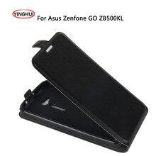"""Fundas da pele da aleta para asus zb500kl yinghui case capa de couro para asus zenfone go zb500kl zb500kg 5.0 """"case telefone voltar coque pará"""