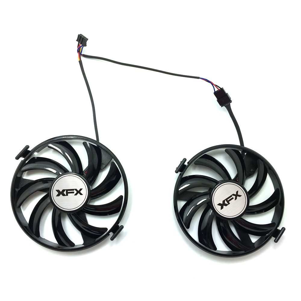 Image 2 - New FDC10U12S9 C 12v 0.45AMP PC Cooling For XFX R9 380X R7 370 Radeon R9 380X R7 370 Grahics Card As Replacement GPU Cooling fan-in Laptop Cooling Pads from Computer & Office