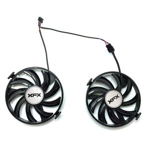 Image 2 - New FDC10U12S9 C 12v 0.45AMP PC Cooling For XFX R9 380X R7 370 Radeon R9 380X R7 370 Grahics Card As Replacement GPU Cooling fan