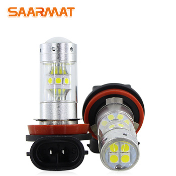 2* Led H8 H11 Car lamp Fog /Daylight Lights Bulb For BMW 3/5-Series 328i 335i E39 525 530 535 540 E46 E60 E61 E92 E93 F10 X3 F2 image