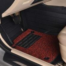 цена на automotive floor mats auto rugs set car pad double-layer for Cadillac CTS CT6 SRX DeVille Escalade SLS ATS-L/XTS MG3/5/6/7 MG-GT