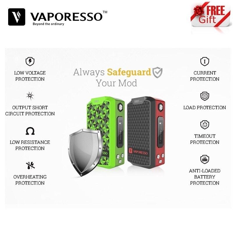 Boîte d'origine Vaporesso Tarot Nano 80 W TC Mod 2500 mah Fit Veco Vape réservoir E-Cigarette vaporisateur Vaper VS Voopoo glisser Vape Mod boîte