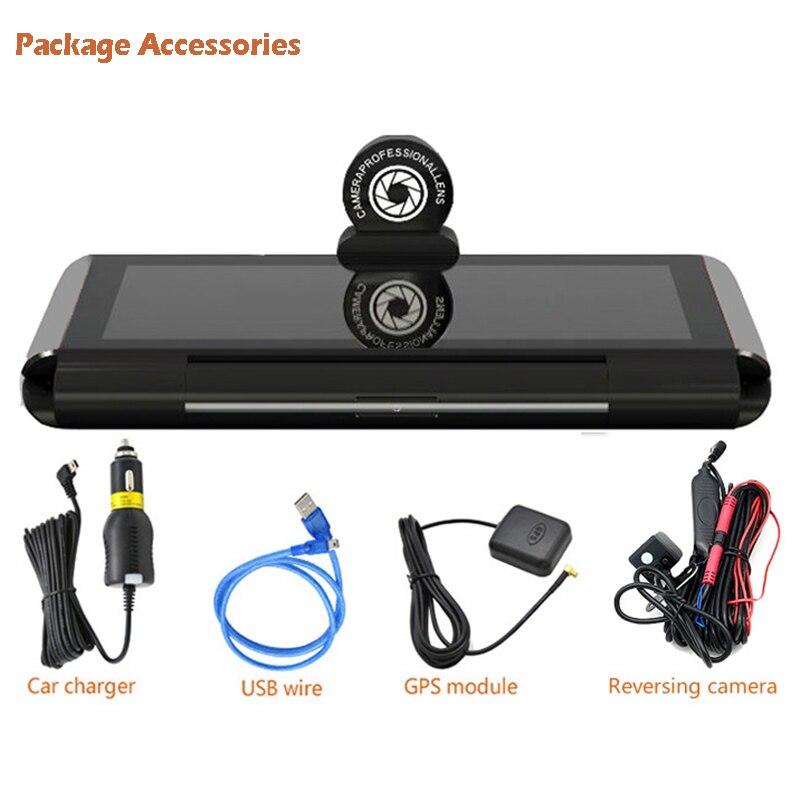 "6.86"" inch 4G ADAS Car DVR Dash Cam Mirror GPS Bluetooth WIFI Android 5.0 Dual Lens FHD 1080p Video Recorder Camera 3"