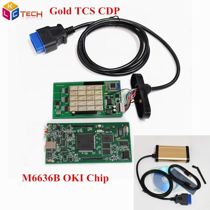 imágenes para (3 Unids/lote) DHL LIBERAN el Oro TCS CDP FAVORABLE Con El Bluetooth CDP con la viruta de oki (Viruta de M6636B OKI) para Los Coches y Camiones 3 en 1