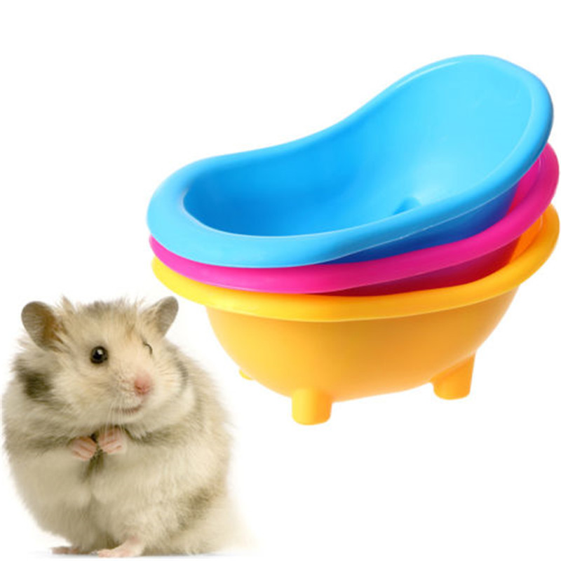 Plastic Hamster Bathtub Multifunctional Hamster Toilet Shower Room Mini Small Pet Bath Bathtub Small Pet Cleaning Tool Supply 24