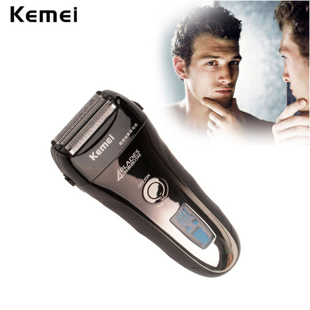 Fast Charged Shaving Machine 4-blade Cutting System Rechargeable LCD Display Electric Shaver maquina de afeitar electrica 165-48