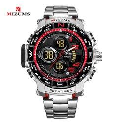 Mizums męskie zegarki Top marka luksusowe wodoodporny Led cyfrowy kwarcowy zegarek człowiek Sport Wrist Watch mężczyźni wodoodporny zegar Led mężczyzna nowy