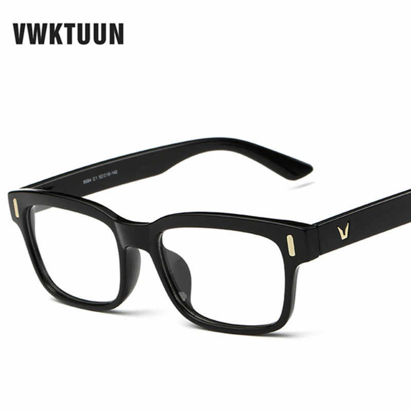 882b65380f VWKTUUN Eye Glasses Frames For Women Optical Eye Glasses Myopia Frames Men  V logo Plain Glass