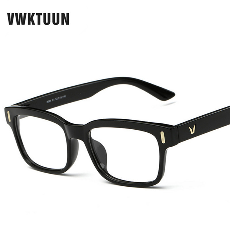 aaeb4792378 VWKTUUN Eye Glasses Frames For Women Optical Eye Glasses Myopia Frames Men  V logo Plain Glass Colorful Frame oculos Gafas de sol