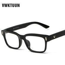 VWKTUUN Ojo Marcos de Los Vidrios De Las Mujeres Miopía Marcos de Anteojos Ópticos hombres V logo Colorido Marco De Vidrio Plano Gafas de sol Oculos