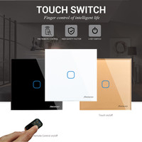 EU UK Standard SESOO Touch Switch 1 Gang 1 Way Wall Light Touch Screen Switch Crystal