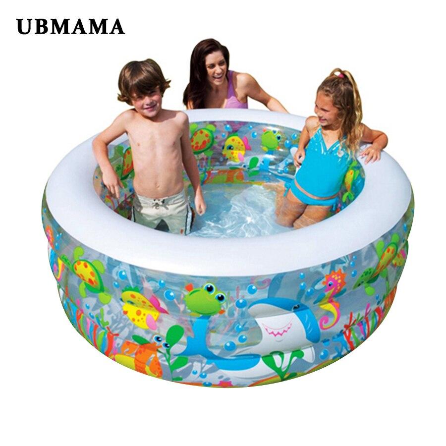 Piscine de fond gonflable pour famille piscine intérieure à source chaude piscine de natation extérieure piscine d'océan en plastique pour enfants 152X56 cm offre spéciale