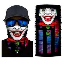 цена на 2018 Motorcycle Ghost Scarf Face Mask Halloween Bicycle Ski Skull Half Face Mask Multi Use Neck Warmer