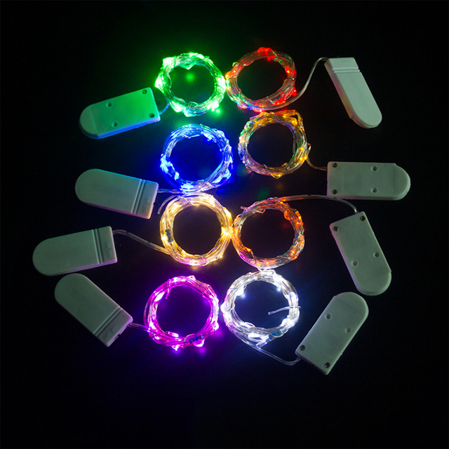 5 m 50 led batteria a bottone cr2032 luci led string per xmas