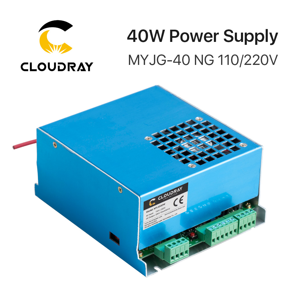 Cloudray 40W CO2 Laser Power Supply MYJG-40T 110V 220V for CO2 Laser Engraving Cutting Machine 35-50W MYJG 50w co2 laser power supply for co2 laser engraving cutting machine myjg 50w