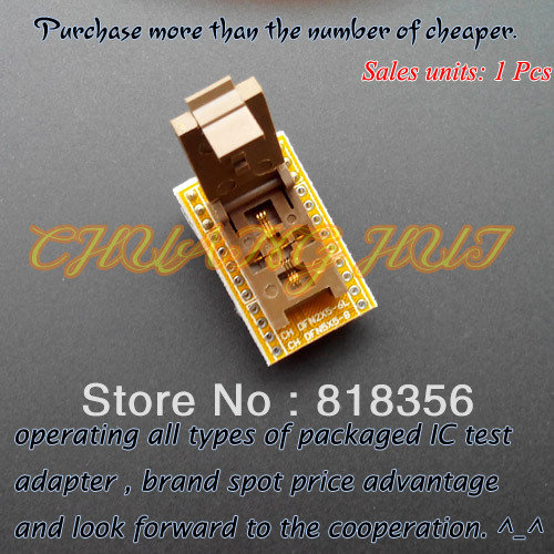 QFN8 WSON8 DFN8 MLF8 to DIP8 programmer adapter Test Socket Pitch=0.5mm Size=2x5mm fshh qfn6 to dip8 programmer adapter wson6 dfn6 mlf6 ic test socket pitch 0 65mm size 5x5mm