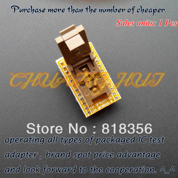 цена на QFN8 WSON8 DFN8 MLF8 to DIP8 programmer adapter Test Socket Pitch=0.5mm Size=2x5mm