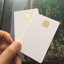 Carte à puce intelligente ISO 7816 blanche AT24C64 avec mémoire 64 K EEPROM pour système de contrôle d'accès 10 pièces