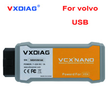 100% Original VXDIAG VCX NANO For Volvo Car Diagnostic Tool function better Than for Volvo Dice 2014D Scanner free shipping