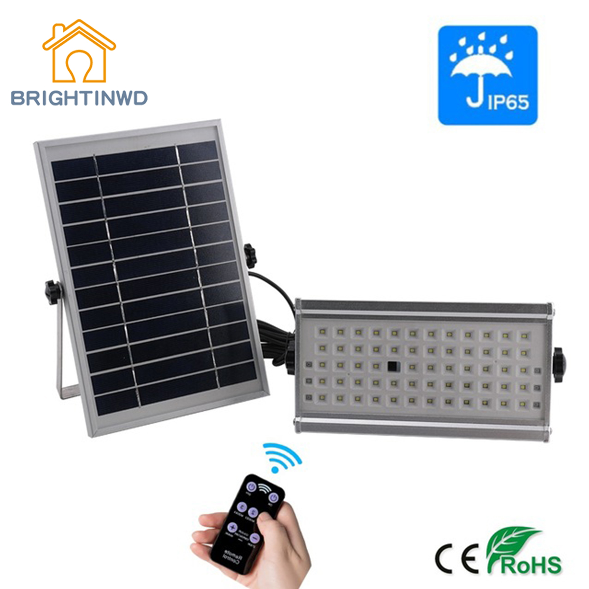 65LED Outdoor Motion Sensor Solar Light Solar Spotlight Remote IP65 Waterproof Wall Lamp Home Security Night Light BRIGHTINWD boruit 65led outdoor solar light 1500lm motion sensor solar spotlight remote ip65 waterproof wall lamp home security night light