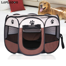 fashion dog bed kennel puppy lovely cats house dog playpen folding portable pet fence oxford