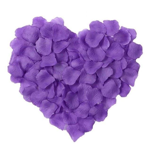 2000 шт. / партия 5* 5 см шелковые лепестки роз на свадьбу, Романтические искусственные лепестки роз Свадебные розы - Цвет: Purple