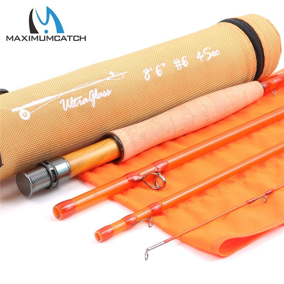 Maximumcatch transparent fiberglass fly fishing rod with for Fiberglass fishing rods