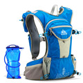 AONIJIE 2016 New Outdoor Sport Bag Marathon Running Cycling Nylon Backpack 12L Ultralight Hydration Pack with 2L Water Bag