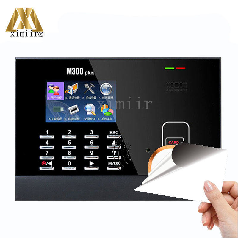 Good Quality 3 Inch Color Screen ZK M300Plus 13.56MHZ MF Card Time Attendance Card Time Recorder Time Clock With IC Card ReaderGood Quality 3 Inch Color Screen ZK M300Plus 13.56MHZ MF Card Time Attendance Card Time Recorder Time Clock With IC Card Reader