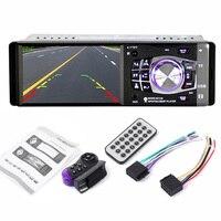 4 Inch 1 DIN Car Auto Radio FM Stereo Remote Control Steering Wheel Bluetooth Support USB