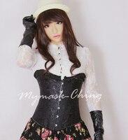 (CM296)Handmade Silicone Sexy And Sweet Half Female Face Ching Crossdress Mask Crossdresser Doll