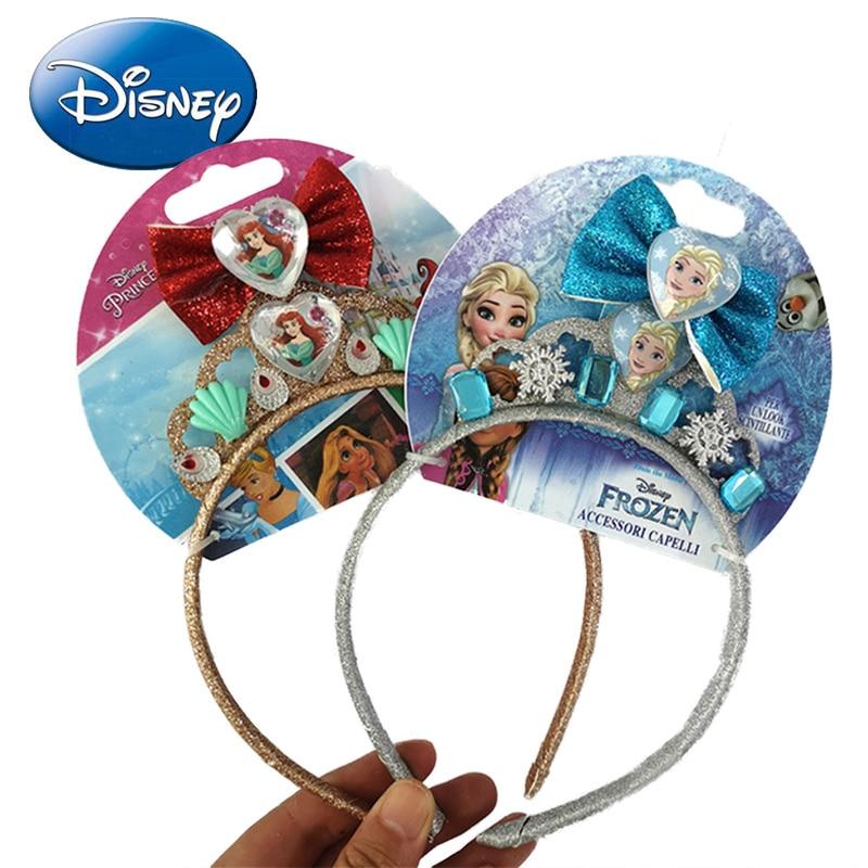 3pc Mermaid Hair Bow Glitter Hair Clip Sparkly Leather Headband Princess Hairpin