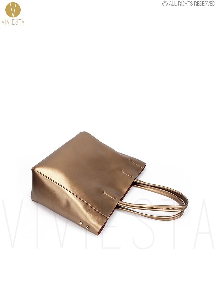 Womens Genuine Leather Silver Gold Metallic Horizontal Cabas Women Bags Tote Winter Large Big Size Shopping Shopper Shoulder Bag Handbag